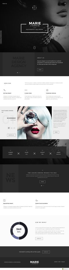 Marie - Creative Agency Portfolio Template Demo & Buy link: http://themeforest.net/item/marie-creative-agency-portfolio-template/10667666?ref=KrstoJevtic