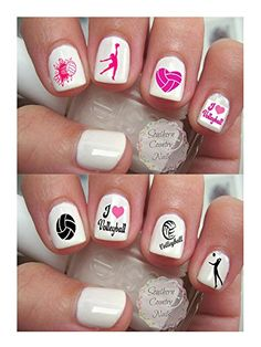 200 Sports Volleyball Nail Art Design Decals