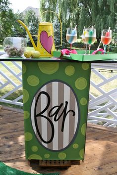 Cute outdoor bar ~ I wanna try and make this!!