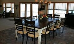 Love this dining room table! www.obxhomebuilders.com