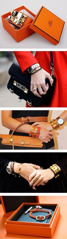 How to wear Hermes bracelets