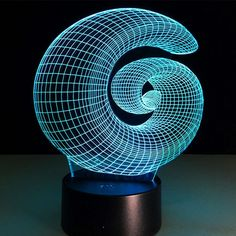 Petcaree Nightlight, visualization Illusion Multi-colored Change USB Touch Button LED Desk Lamp, Table Light for Room Decorative or Gifts for Friends/Kids (Vortex) ** Find out more about the great product at the image link-affiliate link.