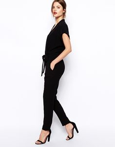 Enlarge ASOS Jumpsuit With Tie Waist And Short Sleeves