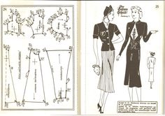 Lutterloh 1939 Book Of Cards -  Models Diagram Card Page 24 & 25