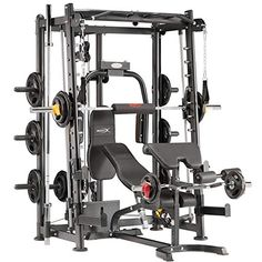 Marcy Home Gym Smith Machine – Home Fitness Force Exercise Machines For Home, Workout Machines, Home Gym Equipment, No Equipment Workout, Fitness Equipment, Gym Workouts, At Home Workouts, Workout Gear, Quick Workouts