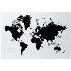 World political map poster cork pin memo board black framed 965 x world map memo board and magnets gumiabroncs Images