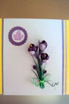 Quilling Seasons: card by erma Neli Quilling, Paper Quilling Flowers, Quilling Craft, Quilling Patterns, Quilling Designs, Quiling Cards, Quilling Birthday Cards, Diy And Crafts, Paper Crafts