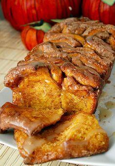 Pull-Apart Cinnamon Sugar Pumpkin Bread   23 House Favorite Pumpkin Recipes for Fall