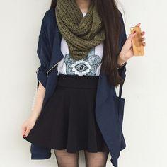 Blue Lapel Long Sleeve Belt Woolen Coat