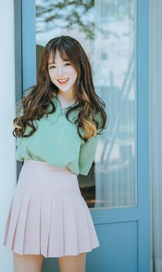 Impact on women hairstyle ♥ [PINKAGE] Hair Extensions Wigs Injomo Hair) Soft mix of local four-piece Supreme Yarns European Fashion, Japanese Fashion, Asian Fashion, Ulzzang Fashion, Ulzzang Girl, Cute Fashion, Skirt Fashion, Fashion Wigs, Cute Comfy Outfits