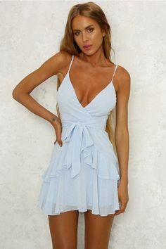 Sexy Straps Light Blue Mini Cocktail Dress, | fancygirldress
