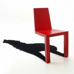機能的な影(荷物置き)が付いた椅子がおもしろい。素晴らしいデザインとアイデアの椅子です。 : インテリア雑貨の伊勢海老太郎ブログ