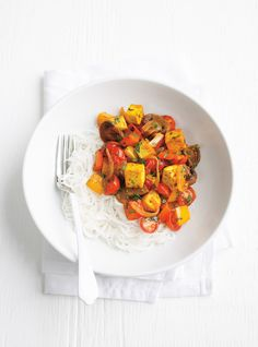 Tofu au cari - Amy E. Tofu Recipes, Curry Recipes, Clean Recipes, Indian Food Recipes, New Recipes, Dog Food Recipes, Vegetarian Recipes, Cooking Recipes, Favorite Recipes