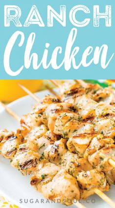 Could You Eat Pizza With Sort Two Diabetic Issues? This Ranch Chicken Is So Easy To Make With Just Two Ingredients That Pack Tons Of Flavor Bake It In The Oven Or Cook It On The Grill Hvranch Gladproducts Sponsored Baked Ranch Chicken, Ranch Chicken Recipes, Grilled Chicken Recipes, Grilled Meat, Ranch Dressing Chicken, Grilled Chicken Skewers, Chicken Recipes For Two, Steak Kabobs, Chicken Tender Recipes