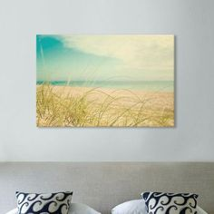 """Beachcrest Home Beach Grass Photographic Print on Wrapped Canvas Size: 26"""" H x 40"""" W x 1.5"""" D"""