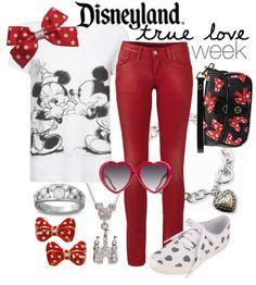 Disneyland True Love Week by princesschandler ❤ . Disney Themed Outfits, Disneyland Outfits, Movie Inspired Outfits, Disney Inspired Fashion, Disney Bound Outfits, Disney Fashion, High Fashion, Disney Dress Up, Disney Clothes