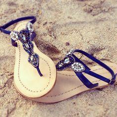 Akan Thongs. Jeweled and gorgeous!