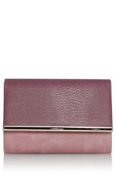 Buy Purple Enamel Bar Clutch from the Next UK online shop