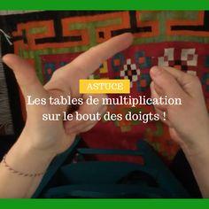 Aujourd'hui, je vous invite à découvrir une technique pourretrouvertoutes les tables de multiplication avec les doigts !