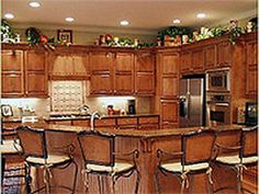 Light up your kitchen with rope lights under the cabinets.