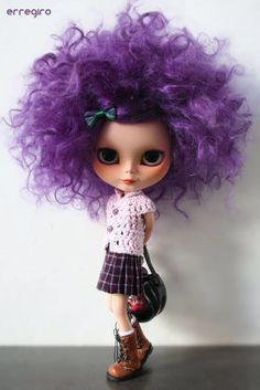 Purple hair:)