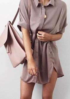 Dusty Pink Tee Dress                                                                             Source