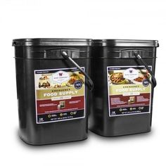 Solar Sporting Goods Wise Foods 240 Serving Package - 40 lbs - Includes: 1 - 120 Serving Entrée Bucket and 1 - 120 Serving Breakfast Bucket Emergency Food Kits, Survival Food Kits, Emergency Supplies, Survival Prepping, Emergency Preparedness, Survival Gear, Wilderness Survival, Survival Books, Survival Supplies