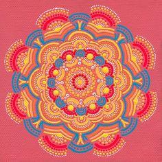 Art Print of Orange Sun Coral Mandala by joypompeo on Etsy, $15.00