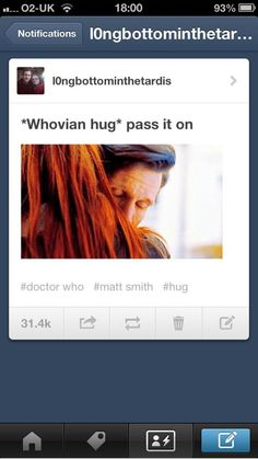 Pass it along!!!!! Doctor Who, Whovians, Hugs, The Doctor, Matt Smith, Amy Pond