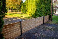 A modern design for a cedar gate