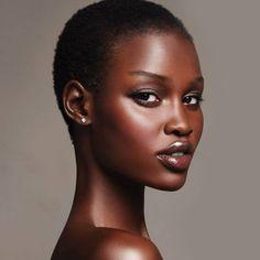 Black is Beautiful and natural hair rocks! Dark Skin Beauty, Hair Beauty, Black Beauty, Beauty Full, Beauty Makeup, Beauty Tips, Makeup Black, Natural Hair Styles, Short Hair Styles