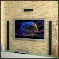 visuales whitecap en la televisión de pantalla plana