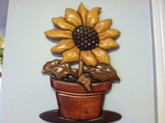 Intarsia Sunflower by ImageryWoodworking on Etsy, $60.00