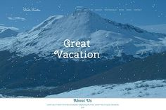 Winter Vacation – Travel HTML Theme. Bootstrap Themes. $10.00