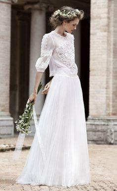 Vlada Roslyakova for Alberta Ferretti Bridal | Vogue Paris