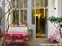 Terrace in the charming Belleville area of Paris :-)