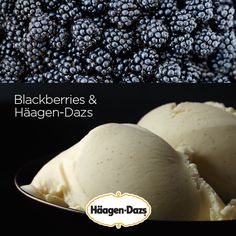 The perfect combo of tart and sweet: seasonal blackberries paired with a bowl of your favourite Häagen-Dazs. #IceCream #Recipe #Dessert