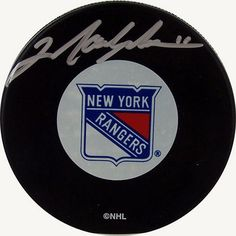 Steiner Sports Mark Messier New York Rangers Autographed Hockey Puck, Black