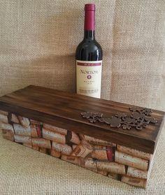Arte lá em casa: caixa para vinho mdf