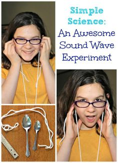 This super easy science experiment has some AMAZING results! Try this easy sound waves experiment -- Elementary & Middle School kids will LOVE creating a 'gong' and exploring how sound waves travel! Elementary Science Experiments, 6th Grade Science, Science Fair Projects, Middle School Science, Science Lessons, Science Education, Physical Science, Physics Experiments, Health Education