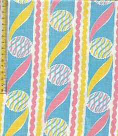 Vintage feedsack fabric- boldly colourful balls #vintage #retro #interiors #gogreen #patchwork #sew #collect #americana