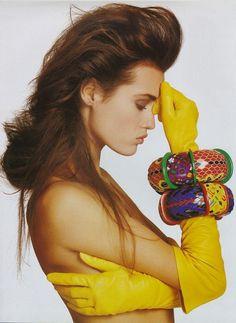 Yasmine Le Bon, Vogue UK, Mars 1988