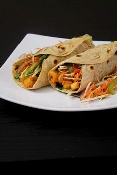 One of the popular street foods from India -- Kathi roll