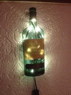 Singleton Single Malt Flasche LED beleuchtet von Taunus-Bottles auf DaWanda.com