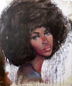 fyblackwomenart:  Afro by Pascale Taurua