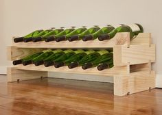 Features:  -Constructed out of strong Australian pine.  -Top shelves can hold magnums.  Product Type: -Wine bottle rack.  Material: -Wood.  Mount Type: -Floor.  Wine Bottle Capacity: -16. Dimensions: