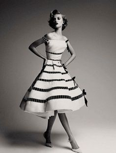 Frida Gustavsson in Dior Haute Couture is part of the Dior Couture Book by Patrick Demarchelier & Ingrid Sischy. Dior Vintage, Moda Vintage, Vintage Couture, Vintage Mode, Vintage Glamour, Vintage Style, Vintage Hats, Vintage Beauty, Vintage Inspired