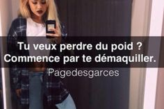 """Find and save images from the """"Citation de Garce ♥"""" collection by zoe cote (LovingSport) on We Heart It, your everyday app to get lost in what you love. Clash Rap, Best Quotes, Funny Quotes, Image Citation, Bitch, Couple Quotes, Mousse, Memes, Smileys"""