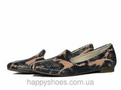"""Кожаные туфли лоферы с бежевым змеиным принтом: продажа, цена в Запорожье. туфли женские от """"HappyShoes"""" - 271508909"""