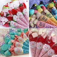 Girls #sweet cones / party bags / pony / #cinderella / disco / lots of #designs,  View more on the LINK: 	http://www.zeppy.io/product/gb/2/191719544917/